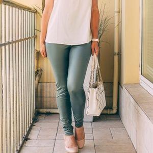 Pants - Faux Leather Look Leggings